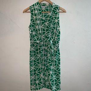 Amanda uprichard green and white geometric dress P